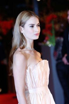 Lily James at the 'Cinderella' premiere at the 65th Berlin International Film Festival on February 13, 2015.
