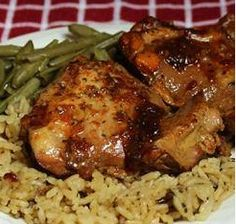 honey-garlic crock pot chicken