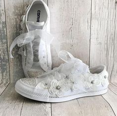 Wedding Converse Custom Shoes Custom Converse Bridal