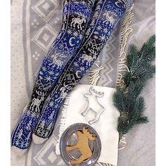 Fair Isle Knitting, Knitting Socks, Hand Knitting, Knitting Patterns, Cute Stockings, Wool Socks, Crafts To Do, Knit Crochet, Weaving