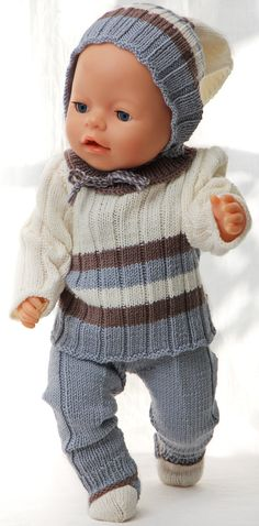 poppenkleertjes breien of haken - Bing images Knitting Dolls Clothes, Knitted Dolls, Doll Clothes, Baby Patterns, Knitting Patterns, Crochet Patterns, Preemie Babies, Preemies, Baby Born Clothes