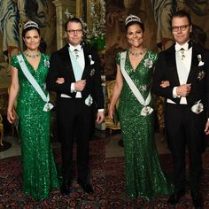 Crown Princess Victoria and Prince Daniel attended an official dinner at Royal Palace