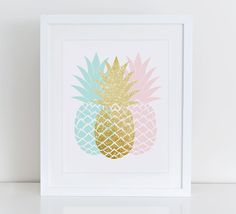 Pineapple Art Print Printable Pineapple by DecorartDesign on Etsy