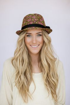 Floral Fedora Hat for Women