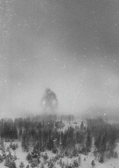 It is believed that this is the only photo in existence of the Great Norwegian Mountain Troll. It was taken in December 1942 by the crew of an RAF recon flight 300 miles north of Bergen.