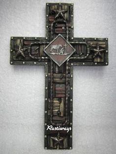 15x 10 Praying Cowboy Hanging Wall Cross
