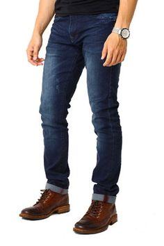 Edberth Shop Celana Jeans Pria - Dongker - Int:30