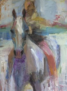 HORSE series, 36x48x1.5 I love this painting!!!! It's very obvious what the center of interest is. Would definitely hang this in my home.