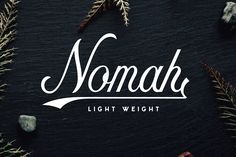 Nomah is a friendly new script typeface with a lot of personality! Use Nomah to add energy to your package designs, shirts, invitations, and more. Nomah Light is part of a full typeface available in Nicolas Fredrickson's shop.  Download Nomah Light for free beneath the previews: