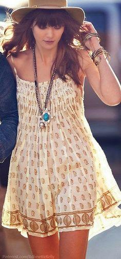 Free People Bohemian Style Sleeveless Dress
