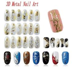 108 Pattern Sheet Stickers Paste Manicure 3D Nail Art Decorations Flower HBNT029 #Unbranded
