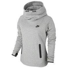 Nike Tech Fleece Hoodie - Women's - Dark Grey Heather/Black/Black