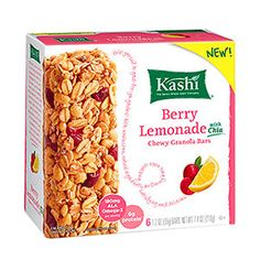 Perfect pre-workout snacks: Kashi Berry Lemonade Chewy Granola Bars with Chia - they have a dose of omega-3's, which has been linked to less muscle soreness after a tough workout.
