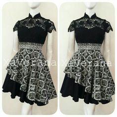 Dress Brukat, Kebaya Dress, Dress Anak, Dress Pesta, Batik Kebaya, Batik Dress, Dress Batik Kombinasi, Photos Of Dresses, Batik Fashion