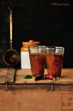 Hunase Saaru Recipe (Mysore Style Spicy Tamarind Rasam)