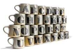 Alphabet Mugs by House Industries