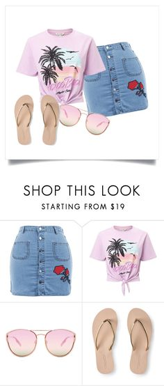 """""""Sunset Summer"""" by dsymaya on Polyvore featuring Miss Selfridge, Quay and Aéropostale"""