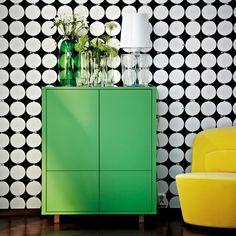 armario+cajones+verde+pared+blanco+negro+ikea+stockholm+2014.jpg (768×768)