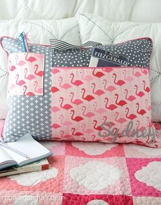 Study Pillow sewing pattern. Giant pockets to hold lots of trinkets