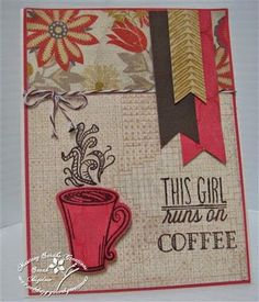 Handmade card by Sarah Bigelow using the Coffee set and Cuppa Joe Die Set from Verve. #vervestamps #nationalcoffeeday #coffeeloversbloghop
