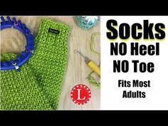 How to LOOM KNIT SOCKS on Round Loom (No Heel No Toe No Folded Cuff ) - YouTube