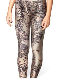 Lord of  The Rings LeggingsMiddle Earth Printed  von leggingscube, $19.90