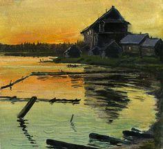В.Качанов. Белая ночь на Сийском озере.1980.