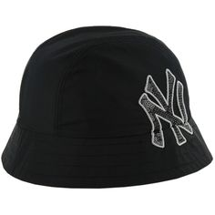 ad8eb2d50b7 ... clearance womens new york yankees 47 black baindridge bucket hat 97997  38c9a