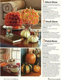 Fall Decor Ideas Using Pumpkins!