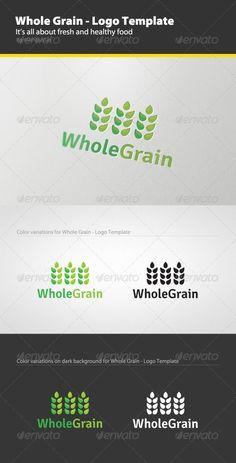 Whole Grain - Logo Template: Food Logo Design Template by Mangustas. Restaurant Logo Design, Food Logo Design, Logo Food, Quote Template, Logo Design Template, Logo Templates, Agriculture Logo, Portfolio Logo, Creative Logo