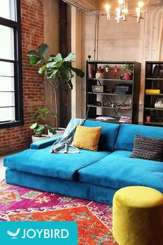 Joybird Anton Daybed - Photo by Daniel N. My Living Room, Home And Living, Living Room Decor, Cozy Eclectic Living Room, Moroccan Decor Living Room, Home Decor Bedroom, Moroccan Rugs, Casa Loft, Dining Room Chairs