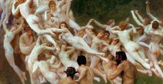 Cider House  William Adolphe Bouguereau, The Oreads (detail), 1902