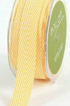 yellow chevron ribbon