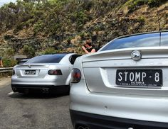 Awesome day out with everyone today. Had a blast on great ocean road. @adam_w4keup and I showing off our sweet arses  #HSV #Geelong #senator #stomp8 #holden #greatoceanroad #ls2 #ballers #gotone #baller by brodie.tattoo.artist