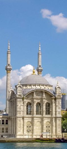 Small White Mosque - - - - - A beautiful mosque on the Bosporus cruise. #istanbul #turkey