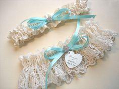 Tiffany Blue Wedding Garter Set
