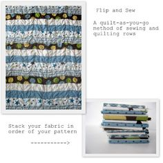 Flip and Sew quilt tutorial - when I need an easy/fast quilt to come together