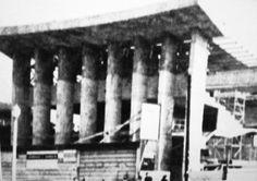 Construção da Sinagoga da ARI em Botafogo. O projeto foi criado pelo arquiteto Henrique Mindlin e a foto é de 1960.