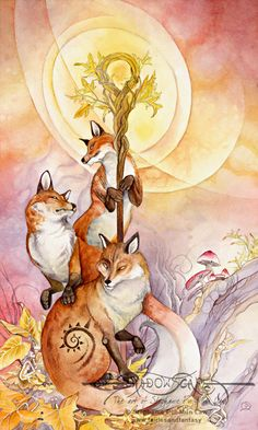 Art Print - 1 of Wands by Stephanie Pui-Mun Law
