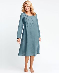 FLAX Design's UnderFLAX 2016 Lightly Tucked at Fg Clothing. Womens Linen Clothing, Flax Clothing, Open Dress, British Khaki, Day Dresses, Boho Fashion, Cold Shoulder Dress, Tunic Tops, Casual