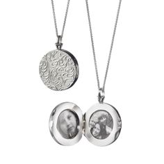 "Monica Rich Kosann : Fine Jewelry at MRK Style - Sterling Silver Signature 1"" Round Vine Locket, $525.00 (http://shop.mrkstyle.com/sterling-silver-locket-necklaces/classic-picture-lockets/sterling-silver-signature-1-inch-round-vine-picture-locket-43209)"