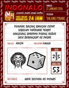 Prediksi Togel Online Indonalo Tanjung Pinang 21 Januari 2016