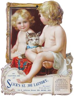 Advertising calendar for Slick's St. Joe Laundry (1905)