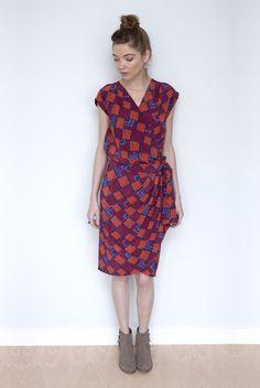 Airmail Wrap Dress
