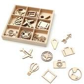 Buy Travel Wooden Embellishments 45 Pack from the Wooden Shapes & Pegs range at Hobbycraft. Free UK Delivery over and Free Returns. Air Balloon, Balloons, Craft Punches, Wooden Shapes, Wooden Letters, Hobbies And Crafts, Scrapbook Pages, Your Cards, Party Invitations