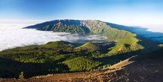 Vue des montagnes de l'île de La Palma aux Canaries en Espagne.