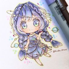 woooooooooooooow Copic Drawings, Anime Drawings Sketches, Cute Sketches, Manga Drawing, Manga Art, Manga Anime, Chibi Kawaii, Manga Kawaii, Cute Chibi