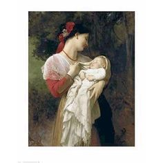 ''Mother and Child'' by William-Adolphe Bouguereau Museum Art Print