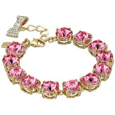 Kate Spade New York Fancy That Bracelet (Rose) Bracelet (420 BRL) ❤ liked on Polyvore featuring jewelry, bracelets, fancy jewelry, bow bangle, lobster claw clasp charms, kate spade jewelry and kate spade bangle