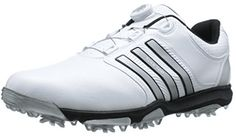 Incredbly These great value mens tour 360 x boa cleated golf shoes by Adidas feature a pad. - All About Golf Golf Cleats, Cleats Shoes, Disc Golf Shoes, Golf 7 R, Womens Golf Shoes, Waterproof Shoes, Ladies Golf, Women Golf, Adidas Men